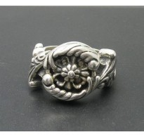 R000269 Stylish Sterling Silver Ring Hallmarked Genuine Solid 925 Handmade Empress