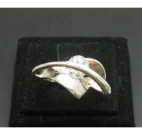 R000013 Stylish Genuine Sterling Silver Ring Solid 925 Rolling Cubic Zirconia Handmade