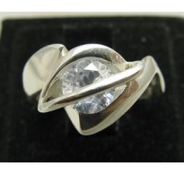 R000014 Genuine Sterling Silver Ring Stamped Solid 925 Rolling Cubic Zirconia Handmade