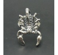 R000867 STERLING SILVER RING SOLID 925 SCORPION ADJUSTABLE SIZE