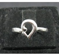 R000115 Stylish Light Sterling Silver Ring Stamped Solid 925 Nickel Free Handmade