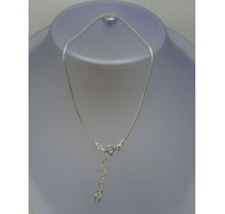 STYLISH STERLING SILVER ANKLET SOLID 925 GAUGE 1mm NEW SNAKE CHAIN