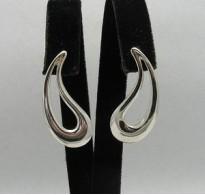 E000162 Sterling Silver Earrings Solid 925