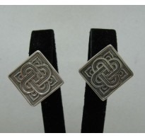 E000168 Sterling Silver Earrings Solid 925 French Clip