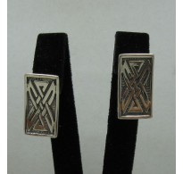 E000169 Sterling Silver Earrings Solid 925 French Clip