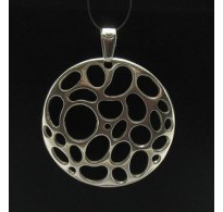 PE000493 Stylish Sterling silver pendant 925 solid circle