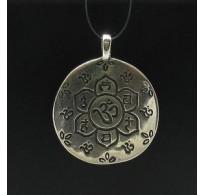 PE000291 Stylish Sterling silver pendant 925 charm flower handmade solid