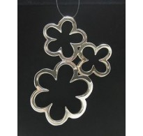 PE000329 Stylish Sterling silver pendant 925 solid Flower perfect quality