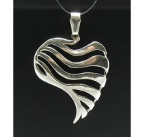 PE000320 Stylish Sterling silver pendant 925 heart perfect quality