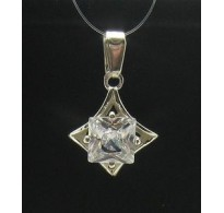 STYLISH STERLING SILVER PENDANT SOLID 925 CZ NEW