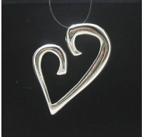STYLISH STERLING SILVER PENDANT SOLID 925 HEART NEW