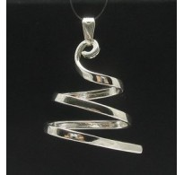 PE000363 Stylish Sterling silver pendant 925 spiral quality
