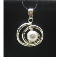 PE000314 Stylish Sterling silver pendant 925 spiral pearl