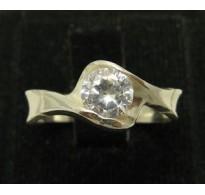 R000367 Genuine Stylish Sterling Silver Ring Solid 925 Cubic Zirconia Handmade Empress