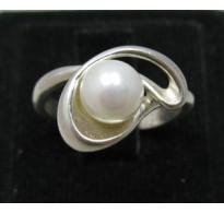 R000075 Stylish Genuine Sterling Silver Ring Hallmarked Solid 925 Pearl Handmade