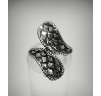 STYLISH STERLING SILVER RING SOLID 925 SNAKE SKIN SIZE 3.5 - 11 EMPRESS R001278