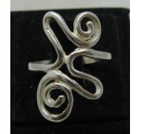 STYLISH STERLING SILVER RING SOLID 925 SPIRAL NEW SIZE 3.5 - 10 EMPRESS