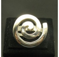 STYLISH STERLING SILVER RING SOLID 925 SPIRAL NEW SIZE 3.5 - 11 EMPRESS