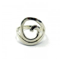 R000017 STYLISH STERLING SILVER RING SPIRAL SOLID 925