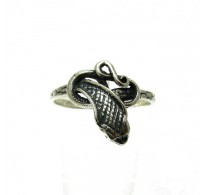 R000001 Sterling Silver Ring Snake Cobra Hallmarked Solid 925 Handmade Nickel Free