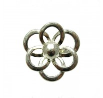R000003 STERLING SILVER RING FLOWER 925 SIZE 3.5 - 13 NEW QUALITY
