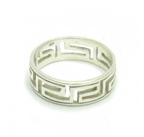 R000225 STERLING SILVER RING SOLID 925 MEANDERS BAND