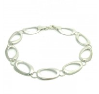 B000151 Stylish Sterling Silver Bracelet Solid 925