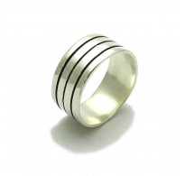 R000040 STERLING SILVER RING WIDE BAND SOLID 925  EMPRESS
