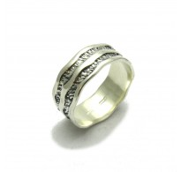 R000043 STERLING SILVER RING  BAND SOLID 925  EMPRESS