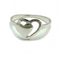 R000083 STERLING SILVER RING HEART 925 Empress
