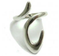 R000098 Stylish Long Sterling Silver Ring Hallmarked Solid 925 Perfect Quality Handmade