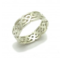 R000138 Stylish STERLING SILVER Ring Solid 925 Celtic Band