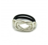 R000197 STERLING SILVER RING WITH RUBBER SOLID 925  EMPRESS