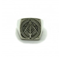 R000199 STERLING SILVER RING SWORD  MEN MASONIC NEW 925 SOLID