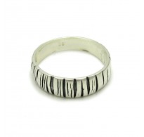 R000213 STYLISH STERLING SILVER RING BAND SOLID 925