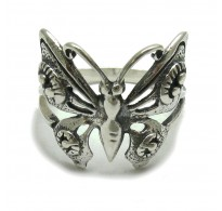 R000214 Genuine sterling silver ring solid 925 Butterfly Empress