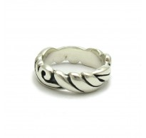 R000221 Sterling Silver Ring Band Genuine Stamped Solid 925 Perfect Quality Empress
