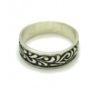 R000230 STERLING SILVER Ring Solid 925 Floral Band