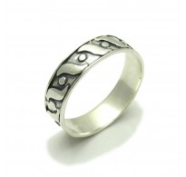 R000241 Stylish STERLING SILVER Ring Solid 925 Band