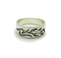 R000242 STERLING SILVER RING BAND SOLID 925  EMPRESS