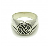 R000270 Plain Sterling Silver Men Ring Hallmarked Solid 925 Celtic Knot Handmade Empress