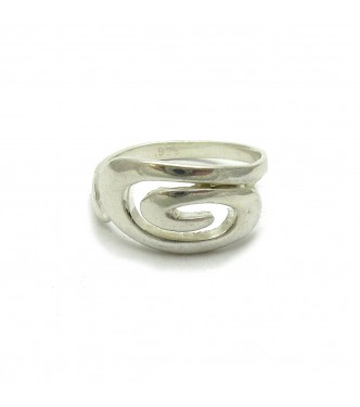 R000373 STERLING SILVER RING SPIRAL SOLID 925 EMPRESS