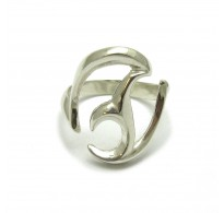 R000408 STYLISH STERLING SILVER RING SOLID 925 EMPRESS
