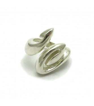 R000427 STYLISH STERLING SILVER RING SOLID 925 EMPRESS