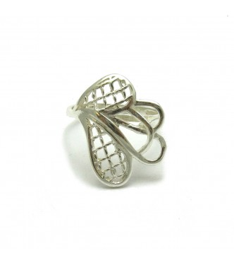 R000436 STYLISH STERLING SILVER RING SOLID 925 EMPRESS