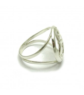 R000437 STYLISH STERLING SILVER RING SOLID 925 EMPRESS
