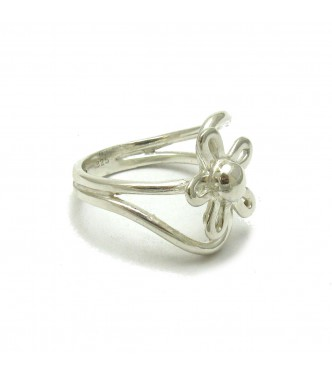 R000444 STERLING SILVER RING FLOWER SOLID 925 EMPRESS