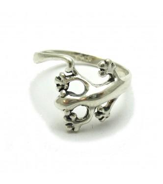 R000467 Genuine Sterling Silver Ring Gecko Salamander Stamped Solid 925 Handmade