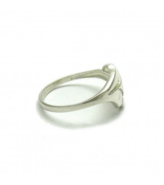 R000482 STYLISH STERLING SILVER RING SOLID 925 EMPRESS