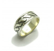 R000490 STYLISH STERLING SILVER RING BAND SOLID 925 EMPRESS